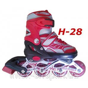 Ролики H-28 раздвижные размер, 38-43, фото 2