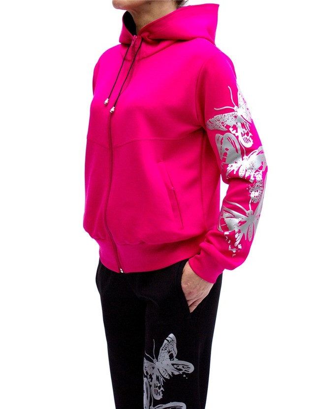 Яркий спортивный костюм Бабочки для женщин - стрейч-эластан - фото teens.ua