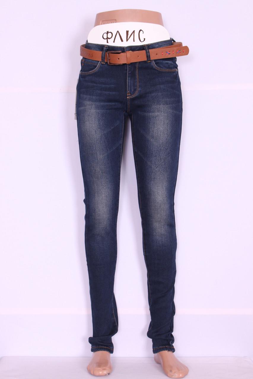 Женские утепленные джинсы Cudi (код 9953)