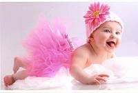юбка пачка для девочки ярко - розовая