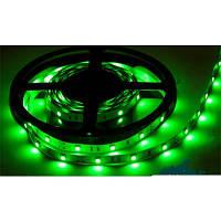 Светодиодная лента SMD 5050 на 30 диодов в 1-м метре, 7,2Вт/1м, зеленый цвет, не герметичная