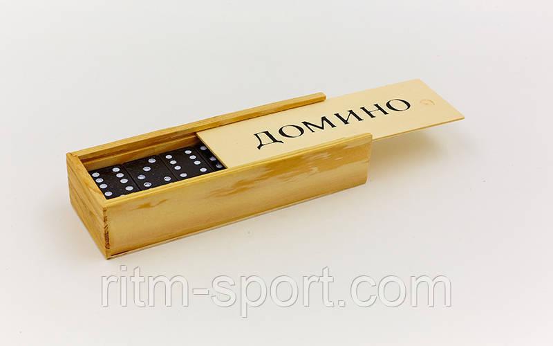Доміно в дерев'яній коробці (розмір коробки 14,8*5*3 см)