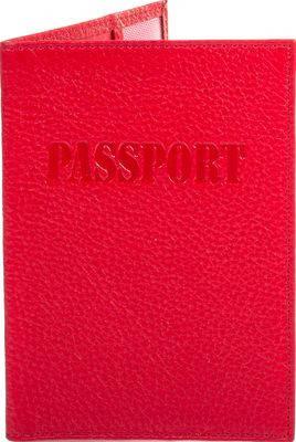 Яркая женская кожаная обложка для паспорта CANPELLINI (КАНПЕЛЛИНИ) SHI002-172 красный