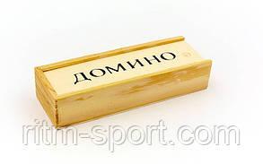 Доміно в дерев'яній коробці (розмір коробки 14,8*5*3 см), фото 3