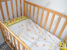 Детское постельное белье в кроватку, постельный комплект (сова салатовый), фото 3