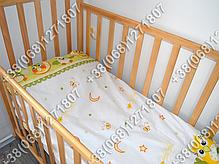 Детское постельное белье и защита (бортик) в детскую кроватку (сова салатовый), фото 3