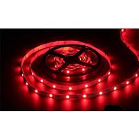Светодиодная лента SMD 5050 на 30 диодов в 1-м метре, 7,2Вт/1м, красный цвет,  не герметичная