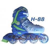 Ролики H-88 детские раздвижные размер 28-33, 34-38