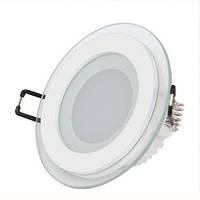 LED Светильник Встраиваемый Стекло BIOM (круг) 6W 3000K Алюминий 600Lm