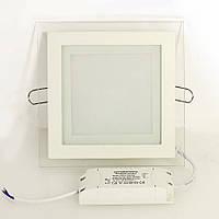 LED Светильник Встраиваемый Стекло BIOM (квадрат) 12W 4500K Алюминий 1200Lm