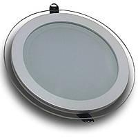 LED Светильник Встраиваемый Стекло BIOM (круг) 18W 3000K Алюминий 1800Lm