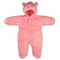 Детский теплый комбинезон Панда с капюшоном, на кнопках, на рост -56, 68, 74 см. (арт.12-03)