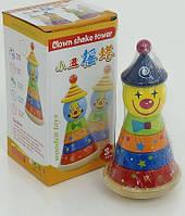 Деревянная игрушка веселый Клоун (0493)