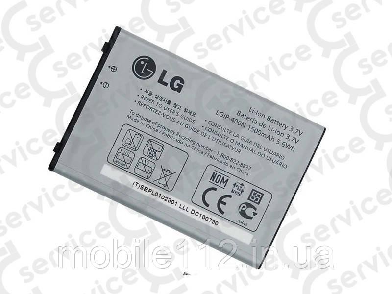 Аккумулятор на LG IP-400N, 1500mAh GX200/ GX300/ GX500/ P500/ P520/ GT540/ GX200/ GW620/ C310/ GW550/ GW620/ GW820/ GW880