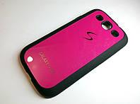 Чехол силиконовый с пластиковой вставкой и логотипом Samsung Galaxy S3 i9300