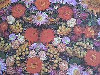 "Бумага упаковочная ""Цветы"", (ДхШ) 65см.х50см."