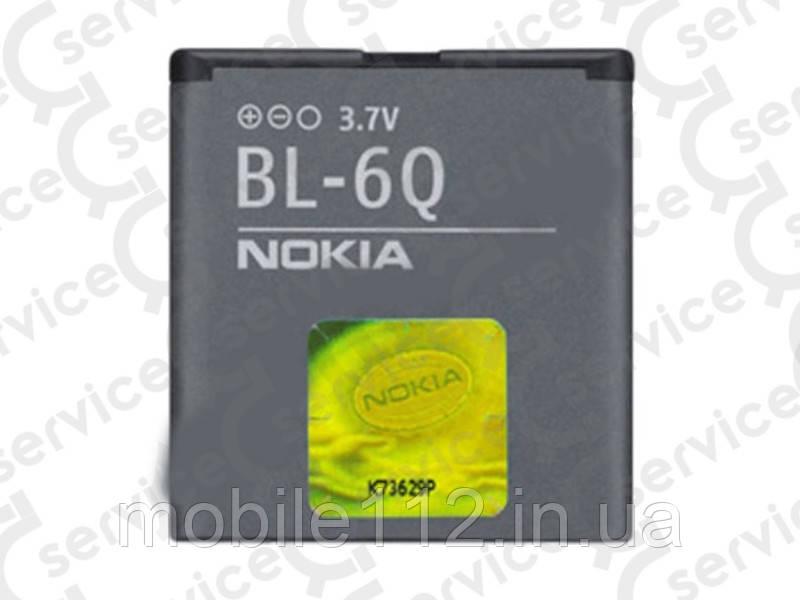 Аккумулятор на Nokia BL-6Q, 970mAh 6700 Classic