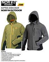 Куртка флисовая с капюшоном NORFIN OUTDOOR размер XL, цвет зеленый