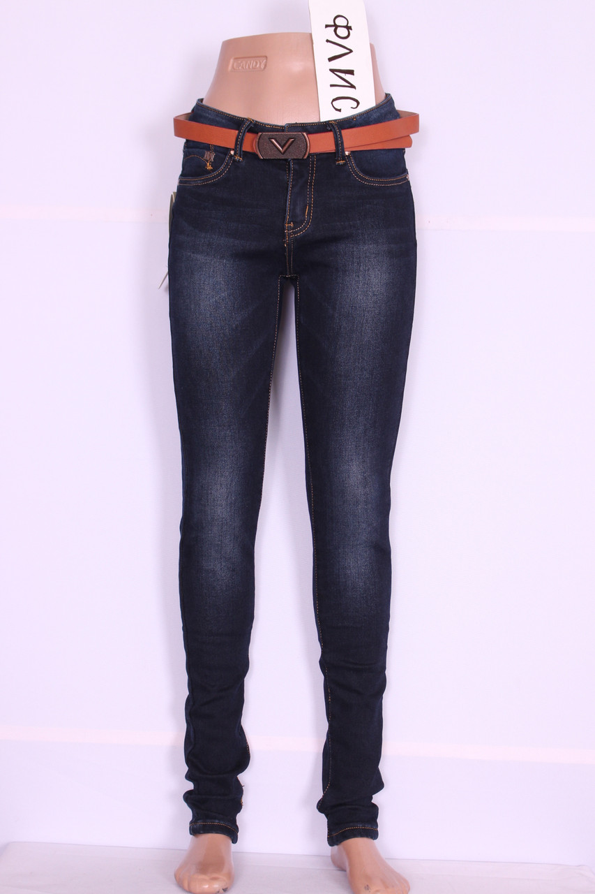 Теплые женские джинсы Cudi (код 9957)