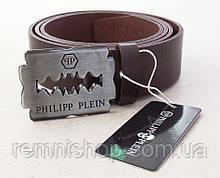 Шкіряний коричневий ремінь Philipp Plein