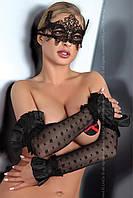 Черная кружевная маска Модель №2 от Livia Corsetti (Польша) Отправка в день оплаты!