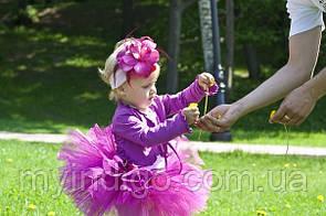 юбка пачка фиолетовая с повязкой