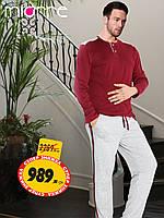 Комфортная и мягкая пижама для мужчин с длинным рукавом