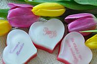 """Мыло """"Сердце"""", с логотипом, 100 граммов"""