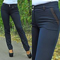 Модные черные брюки в крапинку шоколадного цвета. Арт-8700/68
