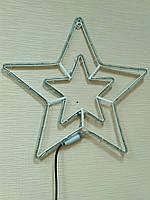 Светодиодное украшение DELUX MOTIF Star 54см, синяя, внешняя