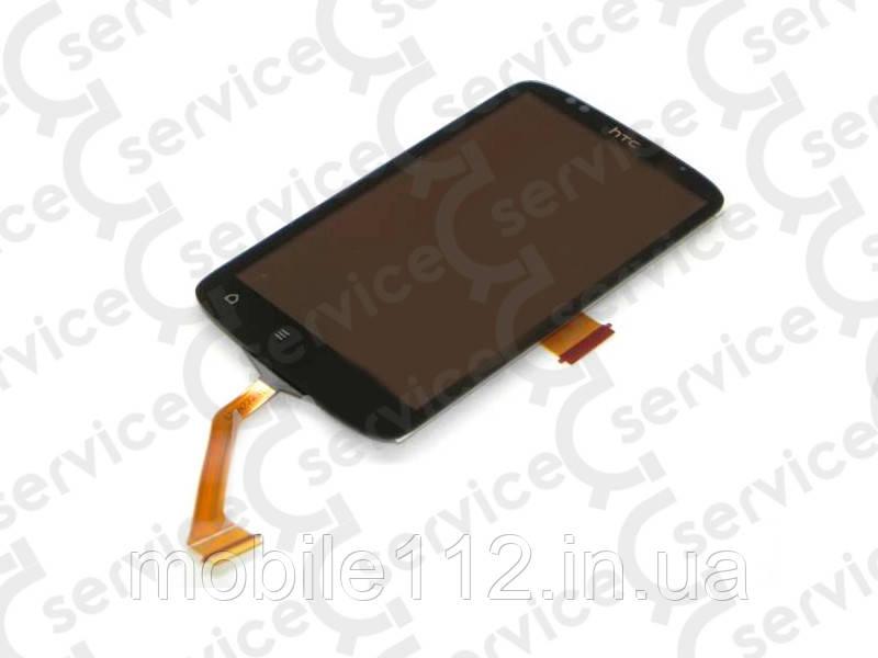 Дисплей для HTC 210 Desire Dual Sim + touchscreen, чёрный