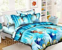 Полуторный детский комплект постельного белья (рисунок Лягушка)