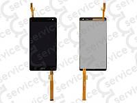 Дисплей для HTC 600 Desire Dual sim/ 606w + touchscreen, чёрный