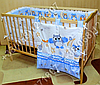 """Детское постельное белье в кроватку """"Карапуз"""" комплект 7 ед. (сова голубой), фото 5"""