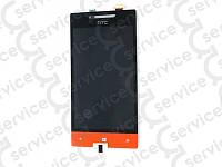 Дисплей для HTC A620e Windows Phone 8S Domino + touchscreen, оранжевый