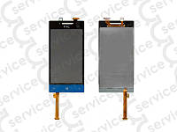 Дисплей для HTC A620e Windows Phone 8S Domino + touchscreen, синий