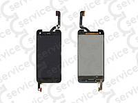 Дисплей для HTC X920d Butterfly + touchscreen, чёрный