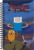 Блокнот А5 (80 листов, картон, спираль) KITE 2015 Adventure Time 221