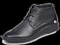 Mida 14982 кожаные ботинки мужские зимние черные