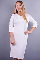 Мари. Нарядное платье больших размеров. Белый., фото 1