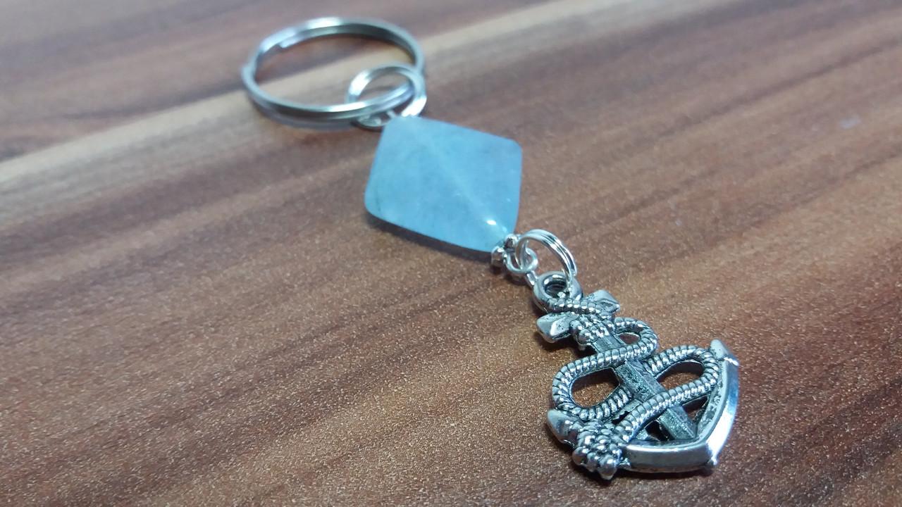 Брелок для ключей из  аквамарина