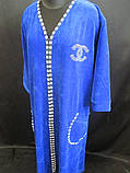 Качественные однотонные халаты с длинным рукавом, фото 2
