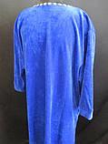 Качественные однотонные халаты с длинным рукавом, фото 5