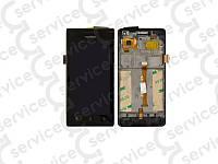 Дисплей для Huawei U9200 Ascend P1 + touchscreen, чёрный, с передней панелью