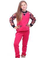 Костюм для девочек трикотажный. кофта и штанишки трэхнитка с начесом. стильный детский костюм.