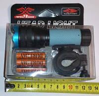 Фонарь велосипедный с одним диодом 3*R03 батарейки