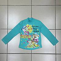 Детский Гольф (начёс) для девочек оптом р.2-4-6-8 лет