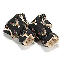 Зимние перчатки на коляску La Millou Oh My Deer - Latte