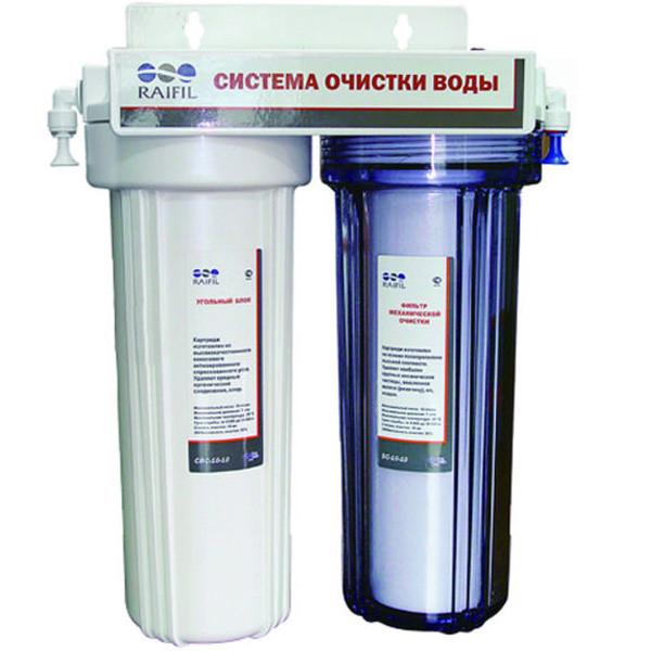Проточный фильтр  для воды.Raifil DUO (PU894W2-WF14-EZ)