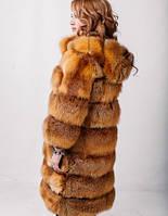 Шуба из лисы с капюшоном (размер 50-54)